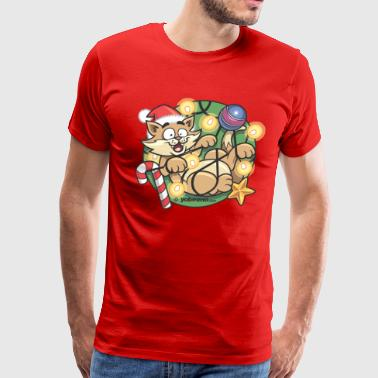 Christmas Cat - Men's Premium T-Shirt