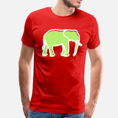 Mammoth A Big Elephant With Trunk - Men's Premium T-Shirt