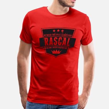 Rascal Vintage RASCAL quotes - Between two evils - Men's Premium T-Shirt
