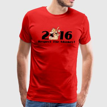Year of The Monkey 2016 Respect The Monkey - Men's Premium T-Shirt