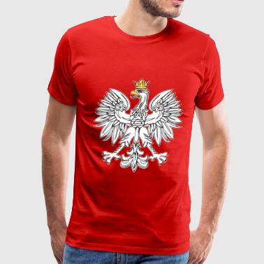 Polish Patriot Polish Eagle With Gold Crown - Men's Premium T-Shirt