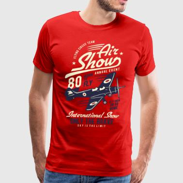 Only the brave air show - Men's Premium T-Shirt