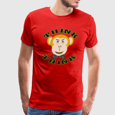 THINK MONKEY THINK TV TWEEN SHELDON PARODY - Men's Premium T-Shirt