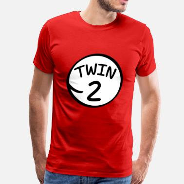 Twins Funny Twin 2 funny saying shirt - Men's Premium T-Shirt