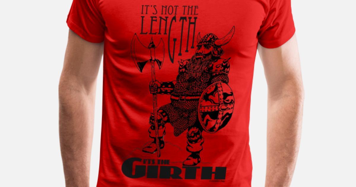 0ad550ee Dwarf - It's not the Length... (black) Men's Premium T-Shirt | Spreadshirt