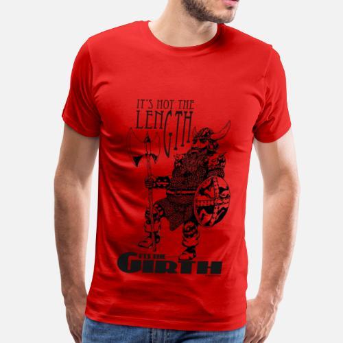 0d8e48e9 Dwarf - It's not the Length... (black) Men's Premium T-Shirt ...