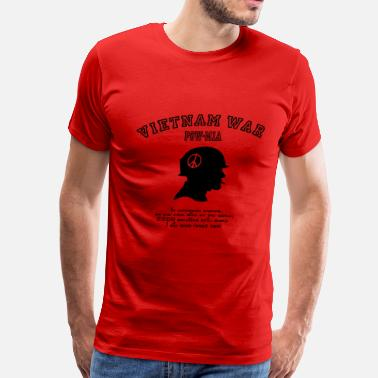 Peace Symbol Afghanistan Vietnam War POW-MIA: I will never forget! - Men's Premium T-Shirt