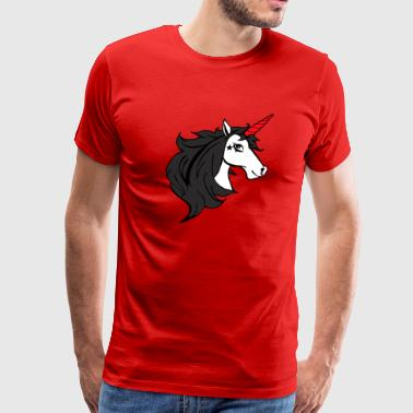 Emo Cartoon Gothic Unicorn - Men's Premium T-Shirt