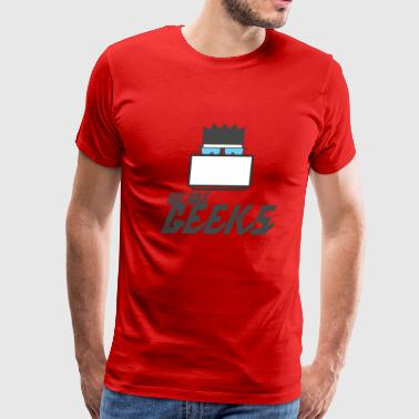 We are Geeks T-shirt with labtop - Men's Premium T-Shirt