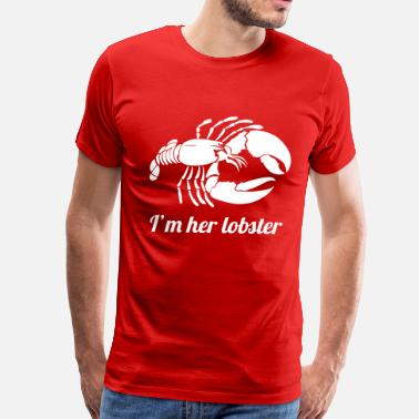 Cute Valentines Day I'm her lobster - Men's Premium T-Shirt
