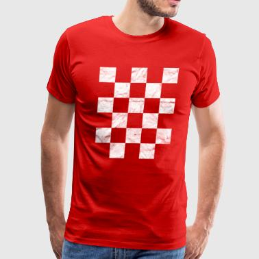 Croatia Hrvatska T-Shirt National Flag Kockasti - Men's Premium T-Shirt