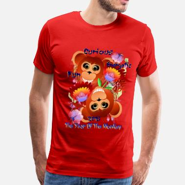 Energetic Curious-Energetic-Fun-Monkey - Men's Premium T-Shirt