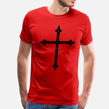 Kreuz Cross God Kreuz Christ I love Jsus church - Men's Premium T-Shirt