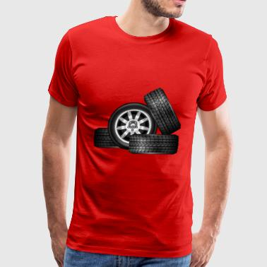 four racing tires - Men's Premium T-Shirt