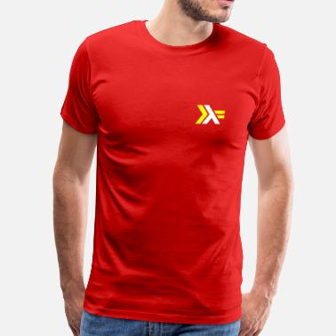Haskell Haskell Logo on Red Shirt - Men's Premium T-Shirt