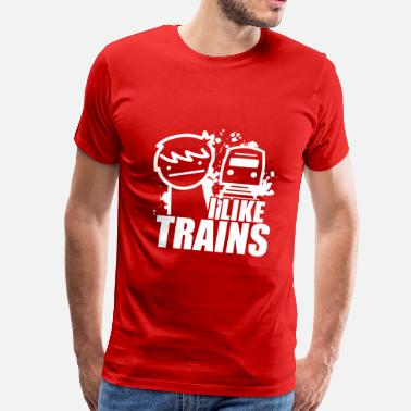 I Like Trains I like trains - Men's Premium T-Shirt