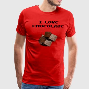 I Love Chocolate - Men's Premium T-Shirt