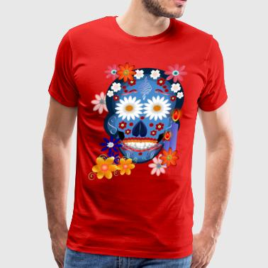 DarkSkull-day of the dead - Men's Premium T-Shirt