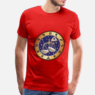 Astrology libra round zodiac sign - Men's Premium T-Shirt