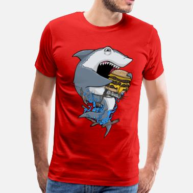 Hungry Shark Shark H20 Delirious Phone & Tablet Cases - Men's Premium T-Shirt