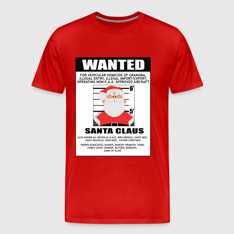 Wanted Santa - Men's Premium T-Shirt