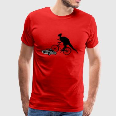 Bicycle Riding Dinosaur - Men's Premium T-Shirt