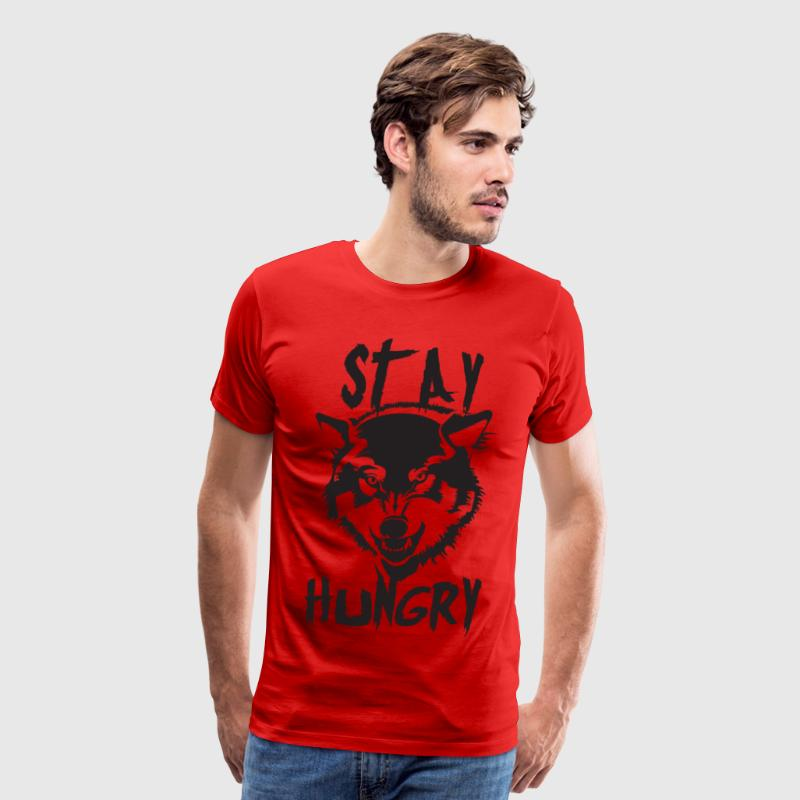 Stay Hungry (Wolf) - Gym Motivation - Men's Premium T-Shirt