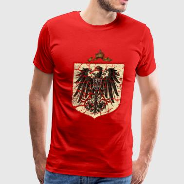 German Imperial Eagle, Distressed - Men's Premium T-Shirt