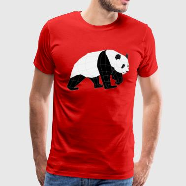 Geometric PANDA BEAR - Men's Premium T-Shirt
