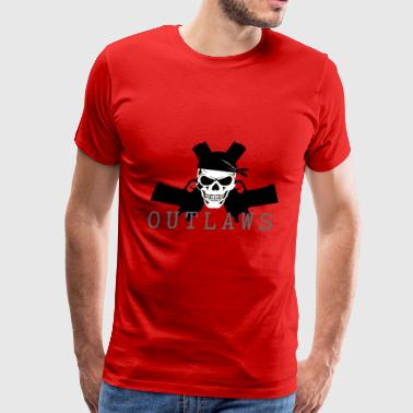 Outlaw Skull & Guns - Men's Premium T-Shirt