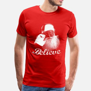 Claus Santa Claus Believe Monochrome - Men's Premium T-Shirt