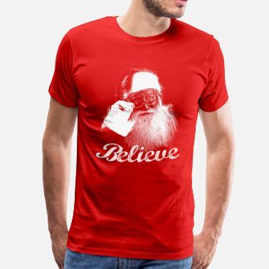 bbcd71e28a Santa Claus Santa Claus Believe Monochrome - Men's Premium T-Shirt