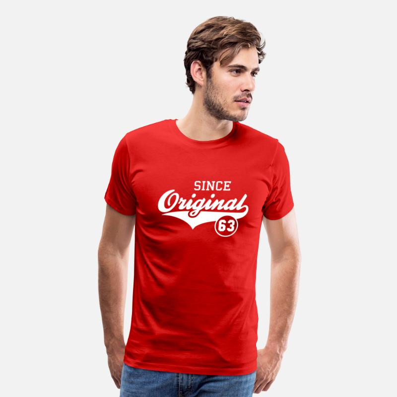60s T-Shirts - Original SINCE 1963 - Men's Premium T-Shirt red