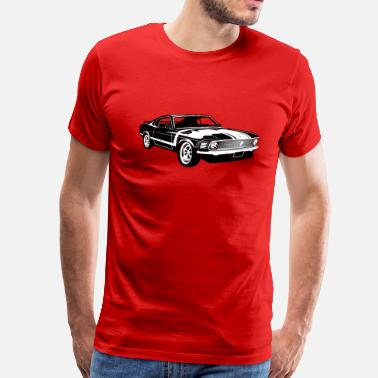 4xl Boss 1970 Ford Mustang BOSS 302 - Men's Premium T-Shirt