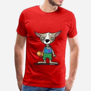 Monkey Crisis On Mars Skating Chihuahua Dog - Men's Premium T-Shirt