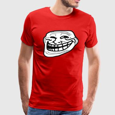 troll face - Men's Premium T-Shirt