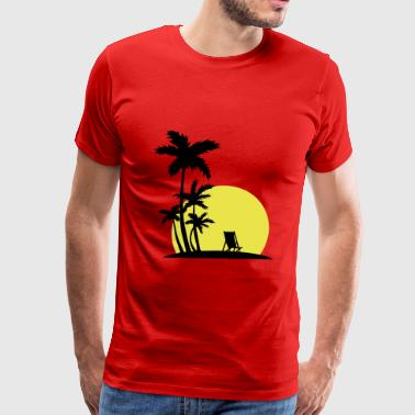 Paradise - Sunset and palm trees - Men's Premium T-Shirt