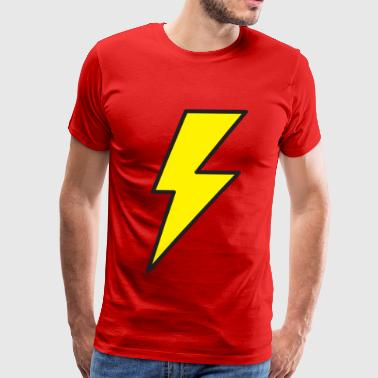 Red Lightning Bolt lightning bolt - Men's Premium T-Shirt