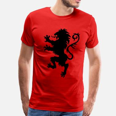 Knights Cross Lion wild heraldic animal King Luxury 1c - Men's Premium T-Shirt