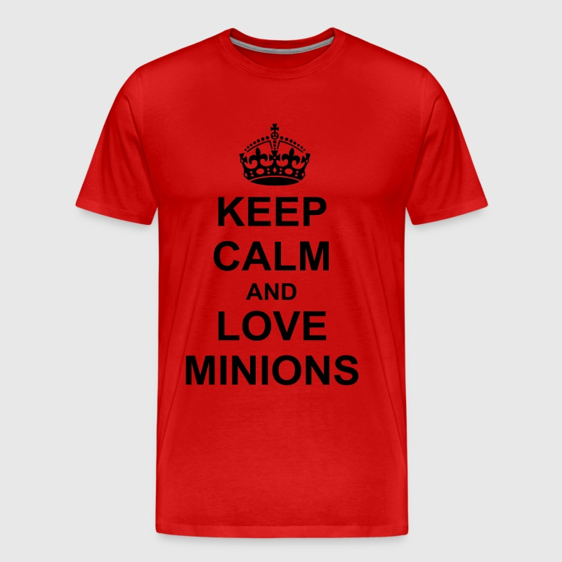 Keep Calm And love minions - Men's Premium T-Shirt