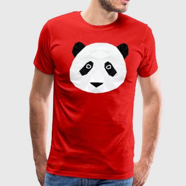 Low Poly Panda Head - Men's Premium T-Shirt