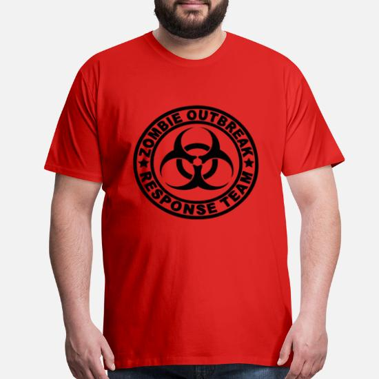 Men/'s Zombie Outbreak Response Team Red Tank Top funny tee shirt