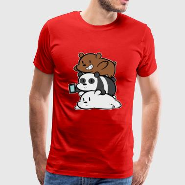 We Bare Bears Cartoon - Men's Premium T-Shirt