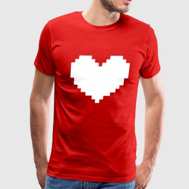 Heart Pixel - Men's Premium T-Shirt
