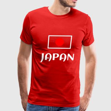 White JAPAN national flag - Men's Premium T-Shirt