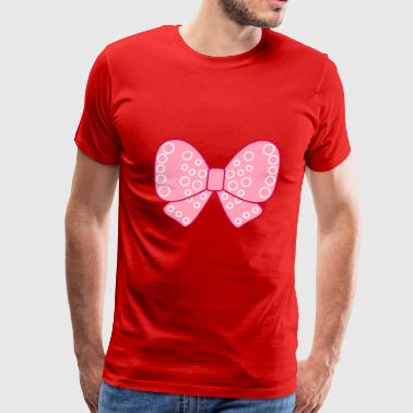 Pink girly bow - Men's Premium T-Shirt