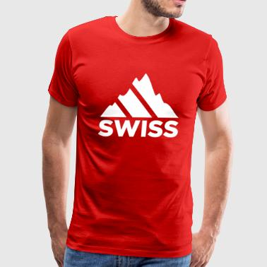 Swiss Mountains Switzerland - Men's Premium T-Shirt