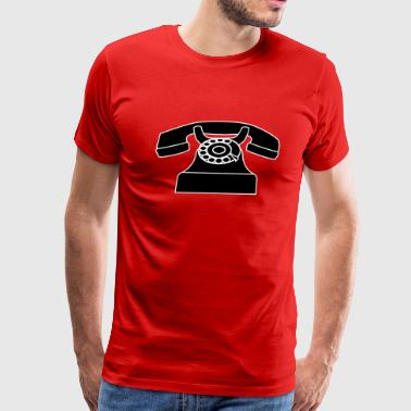 Old-fashioned telephone - Men's Premium T-Shirt