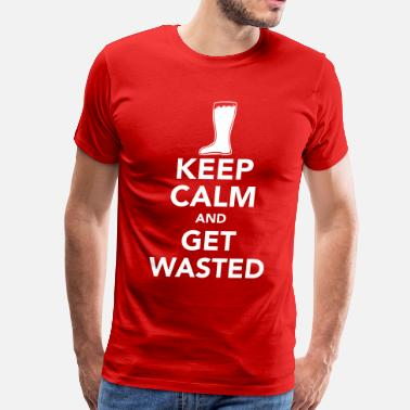 Get Wasted get wasted - Men's Premium T-Shirt
