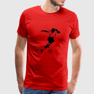 cool soccer player - Men's Premium T-Shirt